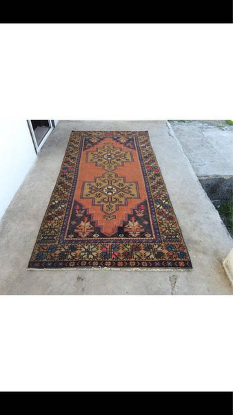 Vintage Handmade Turkish Rug $470