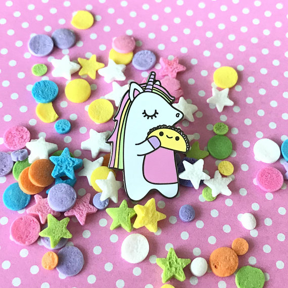 Unicorn loves Tacos Pin