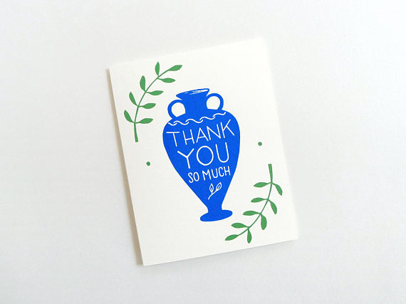Thank You Greek Vase Card // by Middle Dune