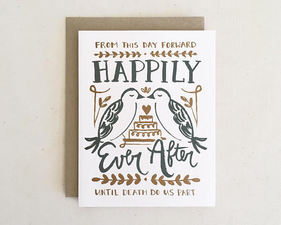 Happily Ever After Love Birds - Card