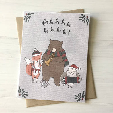 Fa La La Greeting Card