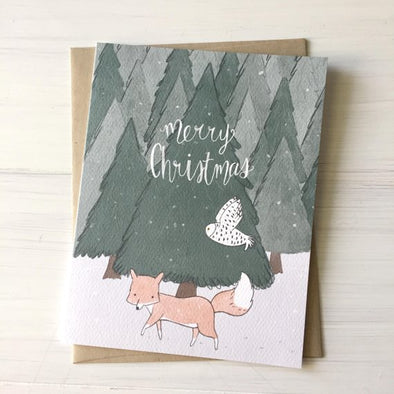 Fox & Owl Greeting Card