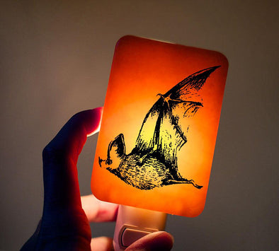 Bat Glass Nightlight - Yellow