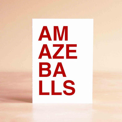 Amazeballs - Greeting Card