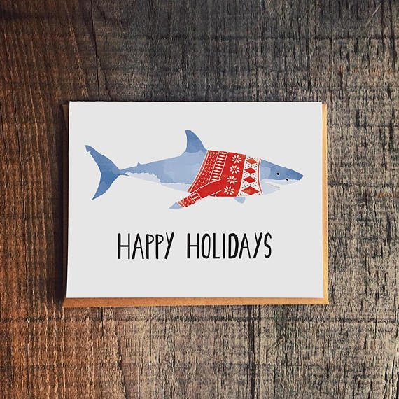Holiday Shark Greeting Card