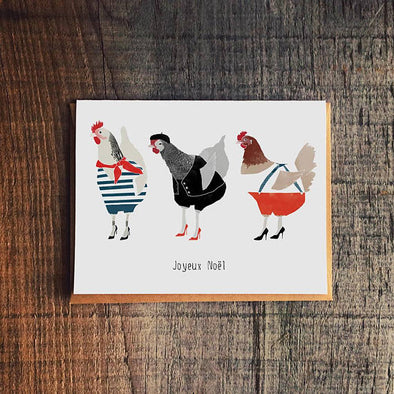 French Hens Greeting Card
