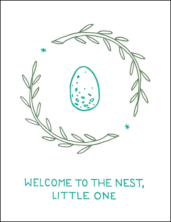 Welcome to the Nest Card // by Middle Dune
