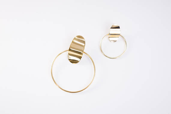 Mini Brigette Brass Earrings