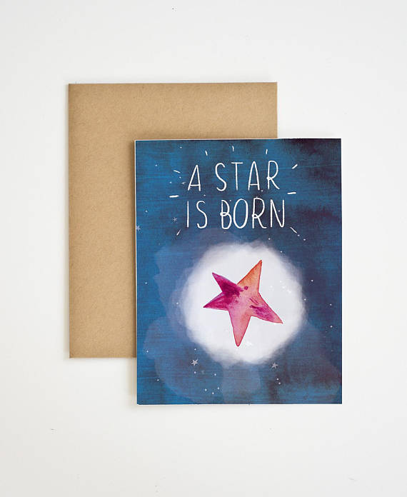 A Star is Born Card