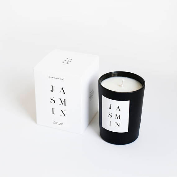 Jasmin Noir Black Matte Luxury Candle