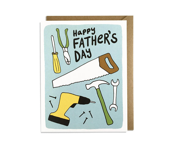 Happy Father's Day-Tools Greeting Card