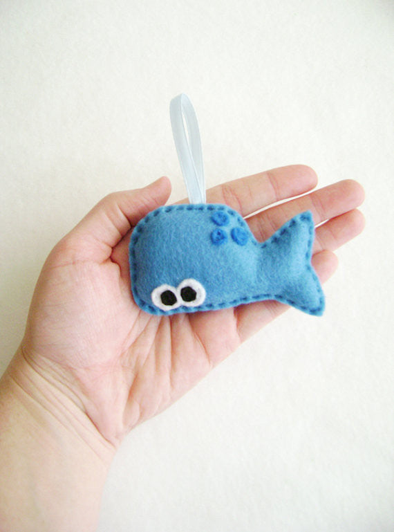 Whale Felt Ornament // By Red Marionette