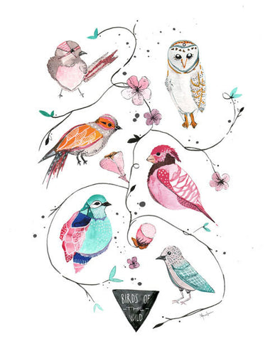 Birds of the Wild Art Print