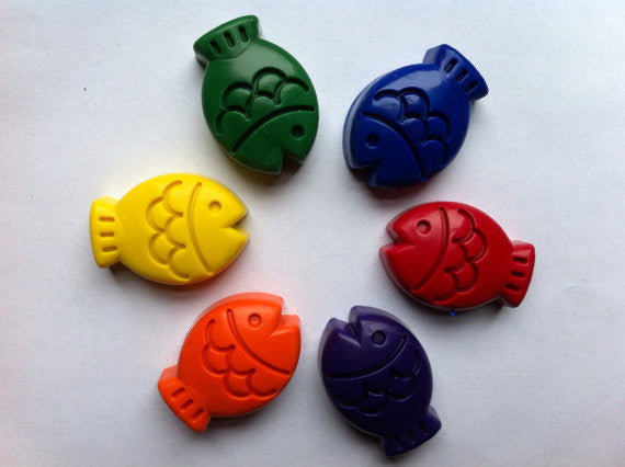 Eco Friendly Fish Crayons - WATERBURY