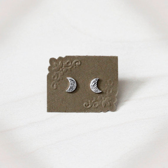 Crescent Moon Earrings - Sterling Silver*