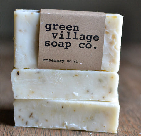Rosemary Mint All Natural Handmade Soap // by Green Village Soap
