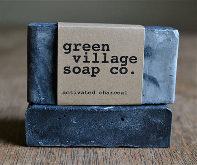 Activated Charcoal Soap Unscented // by Green Village Soap