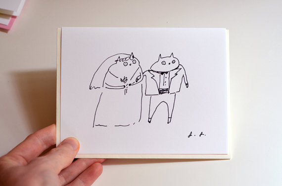 Cat Wedding Greeting Card