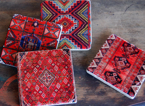 Kilim Stone Coasters // Set of 4 WATERBURY