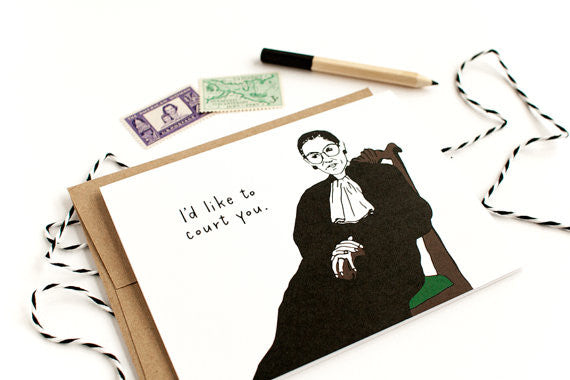I'd Like to Court You Greeting Card