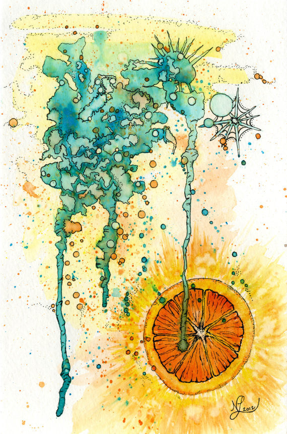Citrus Print 11x14 // by Nikki Laxar Art