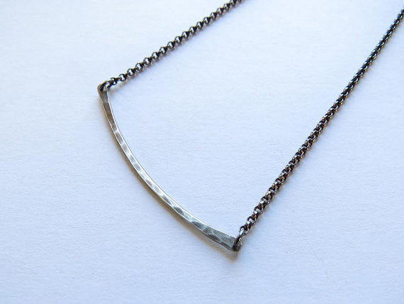 One Rung Silver Necklace