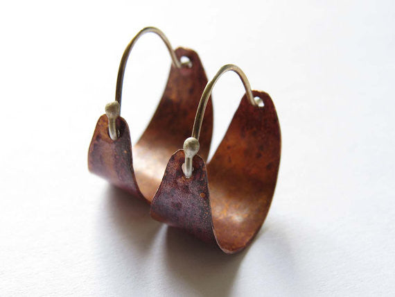 Copper Hoops - Small