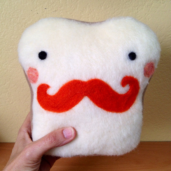 Plush Felt Friend Mr. Mustache - WATERBURY