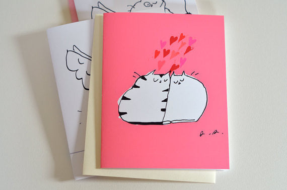 Lovahs Cat Greeting Card