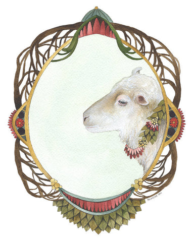 Quilted Portrait: The Sheep // Greeting Card // by Polanshek of the Hills