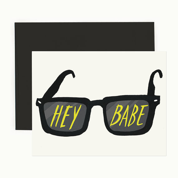Hey Babe Greeting Card