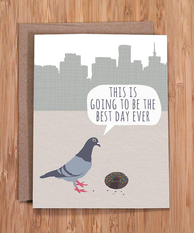 Pigeon Birthday Card
