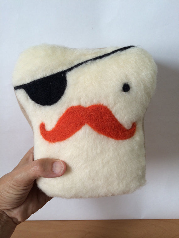 Mr. Toasty Pirate Stuffed Plush Pillow