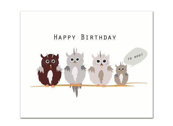 Happy Birthday to Hoo Greeting Card
