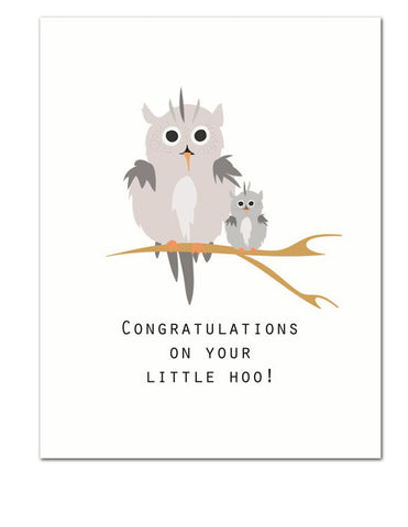 Little Hoo Greeting Card