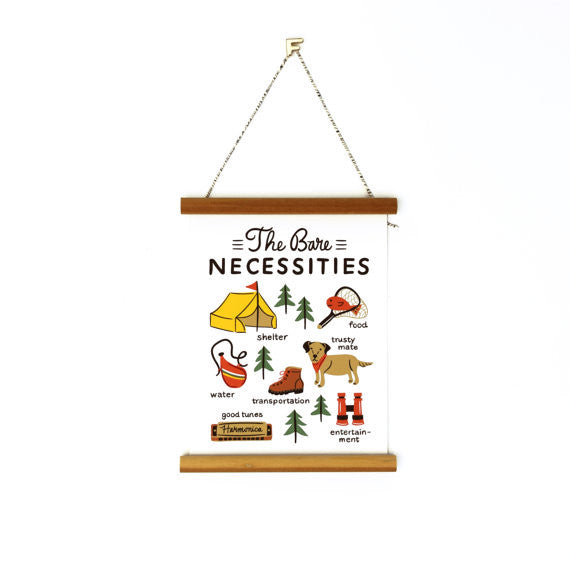 "Bare Necessities 6x8"" Canvas Banner"