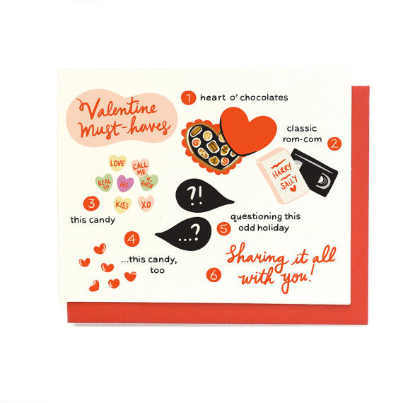 Valentine Must Haves Greeting Card