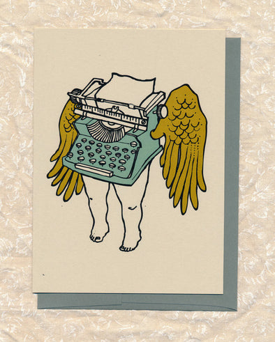 Typewriter Greeting Card // by Hilary Ann Love Glass