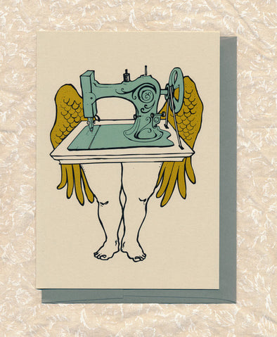Sewing Machine Greeting Card // by Hilary Ann Love Glass