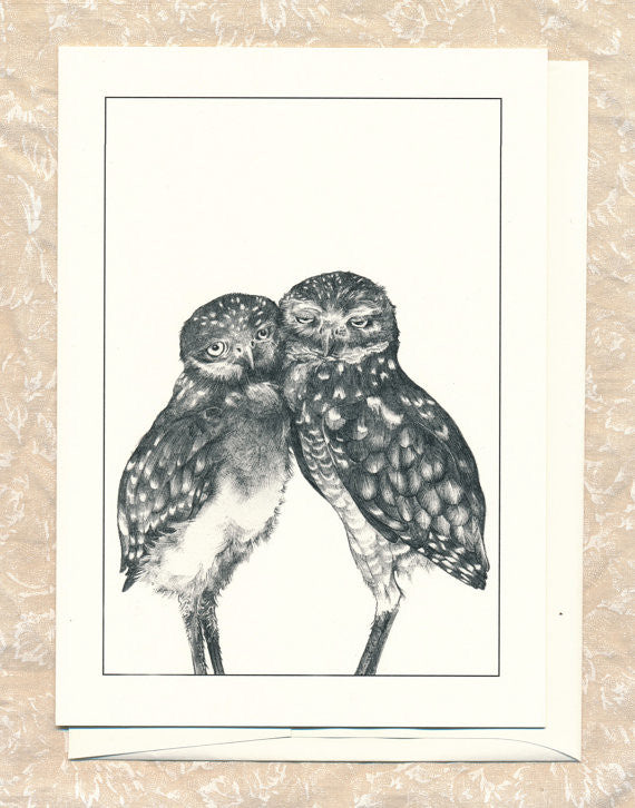 Burrowing Owls Greeting Card // by Hilary Ann Love Glass