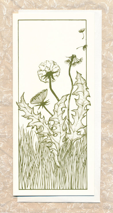 Dandelion Greeting Card // by Hilary Ann Love Glass