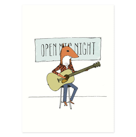 Open Mic Night 5x7 Art Print