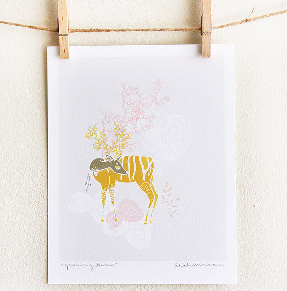 Growing Horns Print 8x10