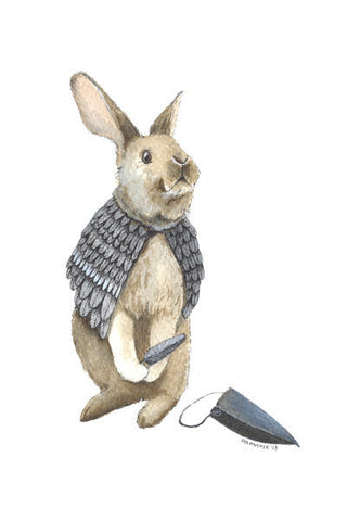 Disguised Rabbit // Greeting Card // by Polanshek of the Hills