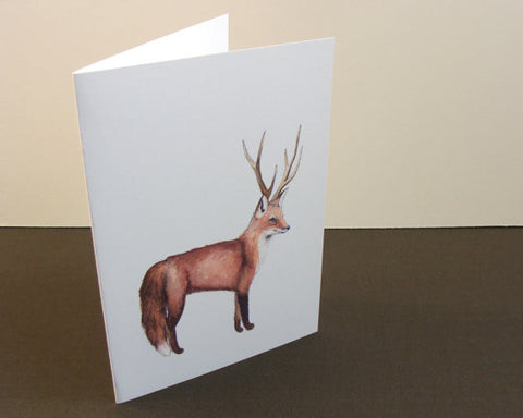 Disguised Fox // Greeting Card // by Polanshek of the Hills