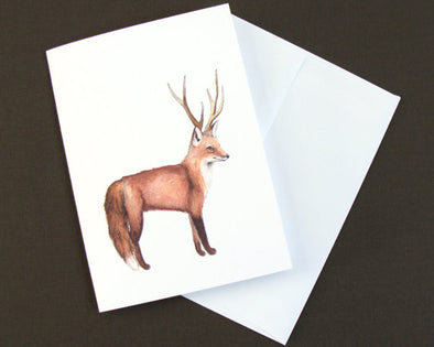 Greeting Card: Disguised Fox