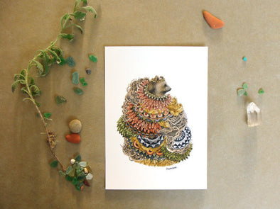 Quilted Forest: The Bear - Art Print