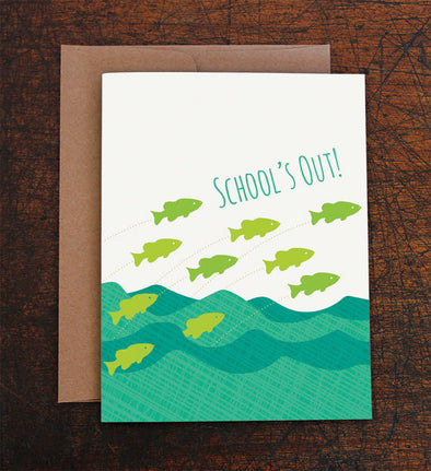 School's Out Graduation Card