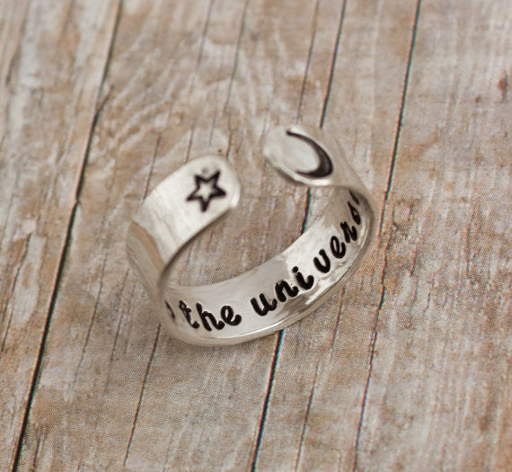 Child of the universe Sterling Silver Cuff Ring