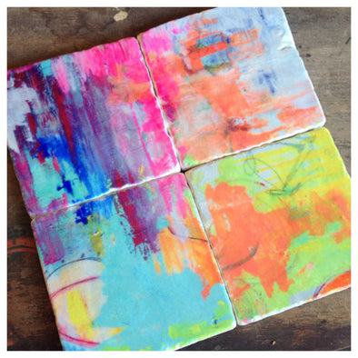 Painterly Coasters // Set of 4